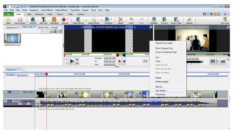 tutorial membuat video di videopad cara mempercepat dan memperlambat gerakan di dalam video