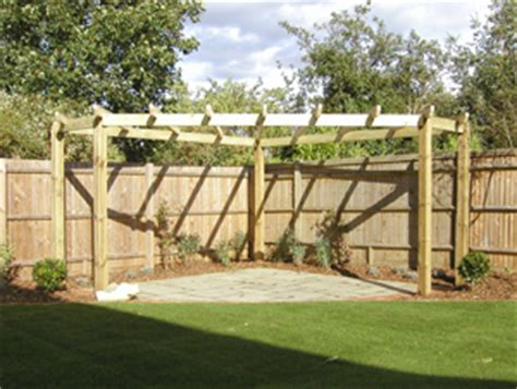 Pressure Treated Soft Wood Bespoke Pergola Pergola Pressure Treated Pergola
