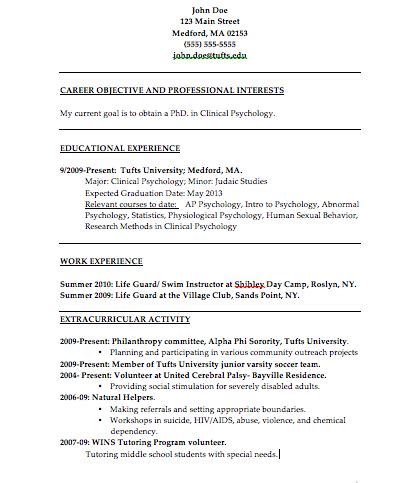 psychology resume exles the psychology of resume building college magazine