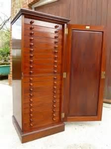 Collectors Cabinet A Beautiful 20 Drawer Solid Mahogany Collectors
