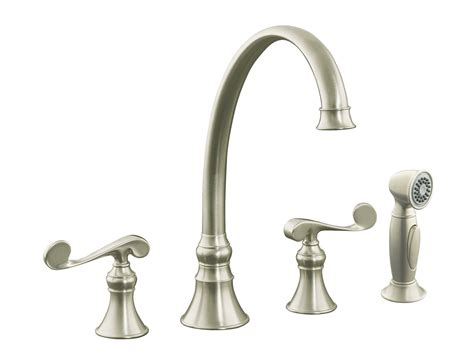nickel kitchen faucets kohler revival kitchen faucet brushed nickel