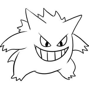 pokemon coloring pages gengar how to draw gengar step by step pokemon characters