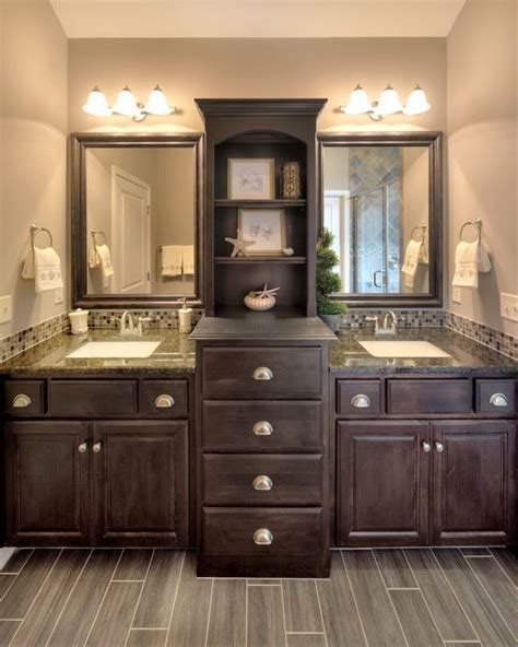 cabinet between bathroom sinks two floor to ceiling cabinets sink between google search
