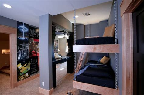 hanging bunk beds suspended in style 40 rooms that showcase hanging beds