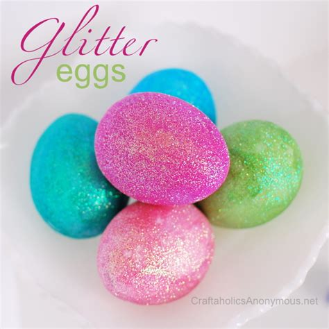 How To Make An Easter Egg Out Of Paper - how to make glitter easter eggs