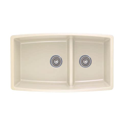 Composite Undermount Kitchen Sinks Blanco Performa Undermount Composite 33 In Bowl Kitchen Sink In Biscuit 441311 The