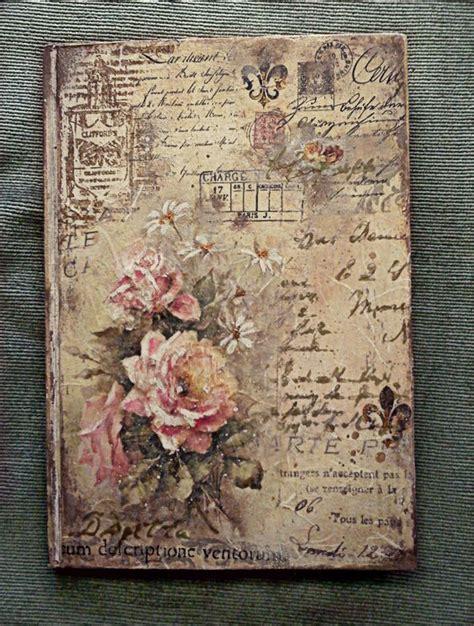 Decoupage Letter Ideas - notebook vintage letters roses decoupage 3