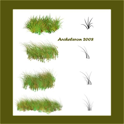 grass pattern brush photoshop my grass brushes by archeleron on deviantart