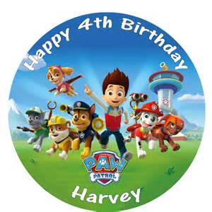 paw patrol 8 celebration birthday cake topper