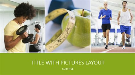 Health And Fitness Presentation Widescreen Fitness Powerpoint Presentation Templates