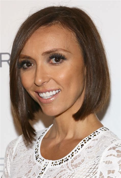 how to get guiliana rancics wavy bob hair giuliana rancic photos photos mbfw backstage at