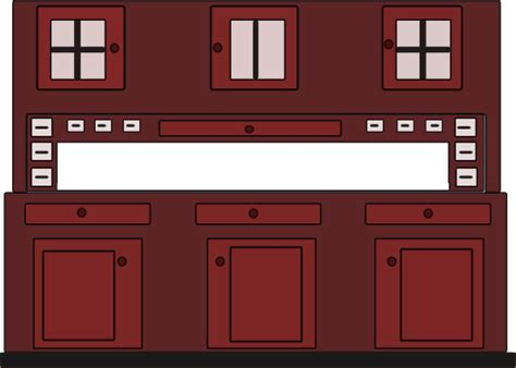 Cabinet Clipart by Kitchen Cabinet Clip At Clker Vector Clip