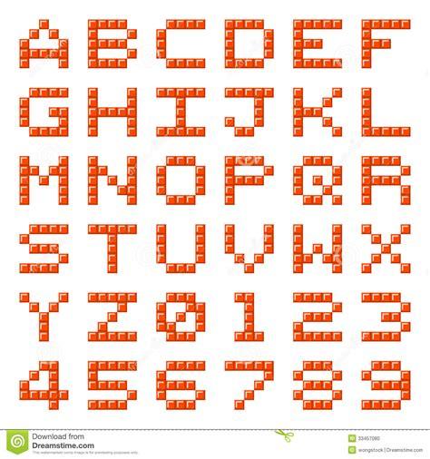 lettere d dei lettere e numeri di alfabeto blocchetto pixel