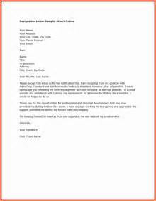 Great Resignation Letter Sle by 9 Resignation Letter One Month Notice Period Notice Letter