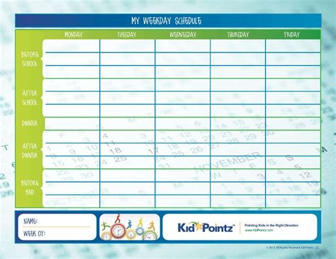 daily routine charts for kids collection selimtd