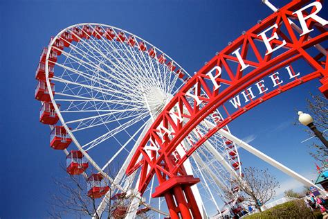 new year lantern festival navy pier ferris wheel go rolling out