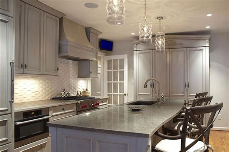 Grey Wash Kitchen Cabinets Gray Washed Kitchen Cabinets Transitional Kitchen Block Caseworks