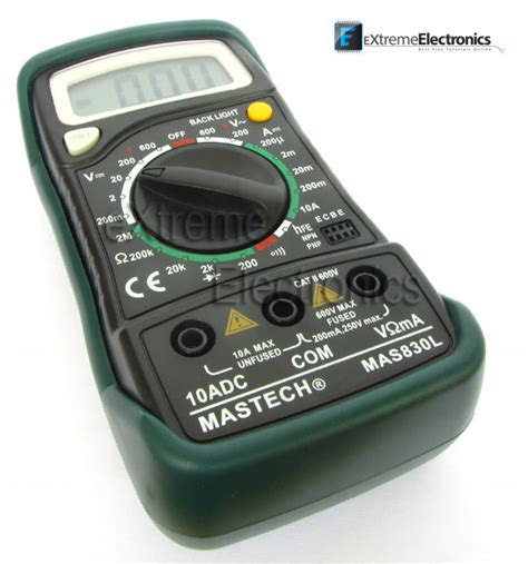 Multimeter Digital Mastech digital multimeter mastech mas830l price buy in india