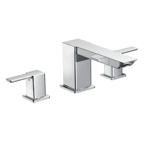 moen t933 brantford chrome two handle roman tub faucets moen brantford 2 handle deck mount roman tub faucet trim