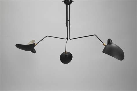 Serge Mouille Three Arm Ceiling L by Jacksons Three Arm Quot Casquette Shade Quot Serge Mouille