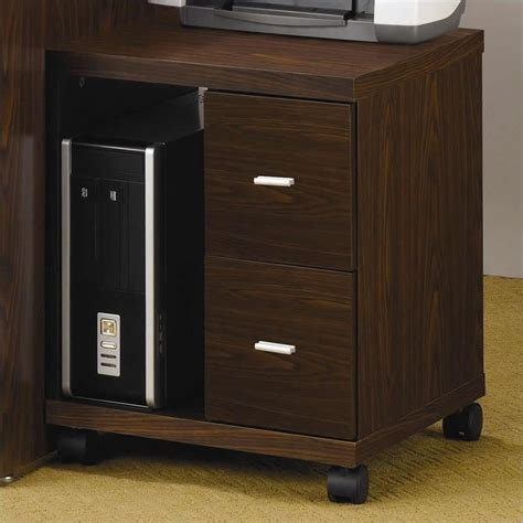 coaster peel 2 drawer computer brown printer stand ebay