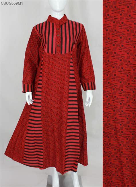 Dress Merah Batikgaun Merah Batik comfy syari dress batik merah gamis batik murah