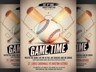 Baseball Game Flyer Template By Christos Andronicou Dribbble Baseball Flyer Template