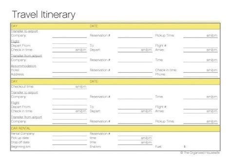 Free Printable Travel Itinerary Trips Mondays And Back To How To Make Travel Itinerary Template