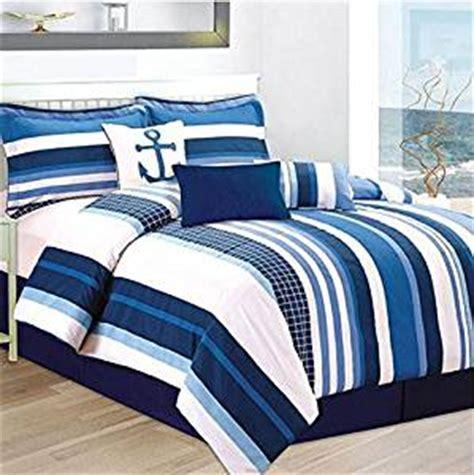 anchor comforter com blue white nautical stripe beach anchor twin