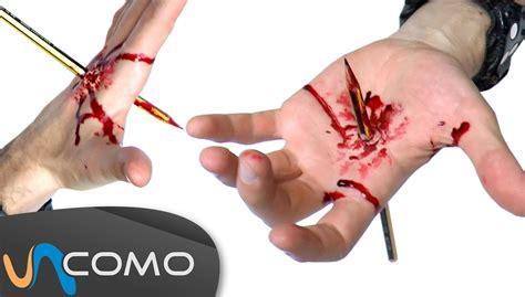 imagenes de heridas asquerosas herida falsa l 225 piz clavado en la mano youtube