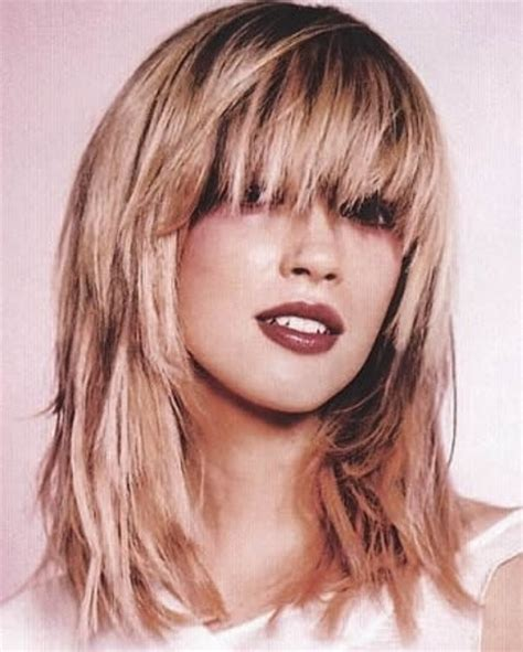 long layers with bangs hairstyles for 2015 for regular people medium length layered haircuts with bangs