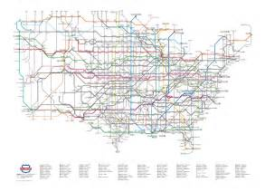 map us highways system the us highway system as a subway map the sue