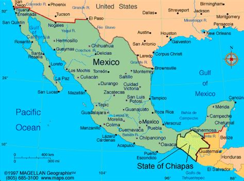mexico in the map chiapas and mexico maps