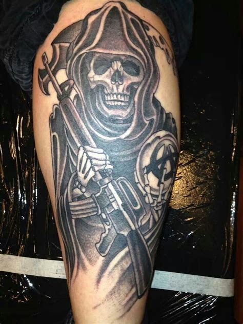 anarchy tattoo epic reaper tattoos reaper