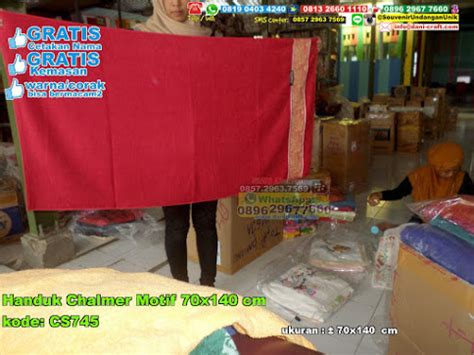 Paket 5 Handuk Terry Palmer Murah Meriah handuk magnolia motif batik 70 215 140 souvenir pernikahan