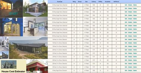 home building estimate calculator house construction cost calculator engineering feed