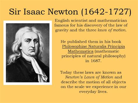 newton biography in english forces newton s laws of motion ppt video online download