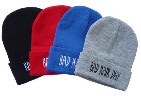 2015 sport winter bad hair day beanie cap hat beanie