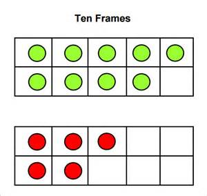 ten frames template sle ten frame 5 documents in pdf