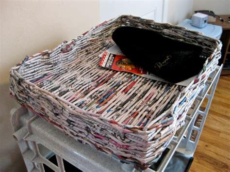 Keranjang Koran panduan mudah membuat keranjang dari koran bekas