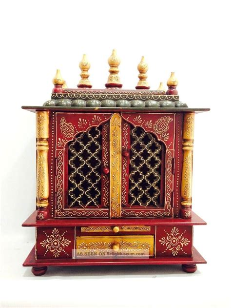 wooden handcrafted temple mandir pooja ghar  homes offices shops  doo hinduism photo