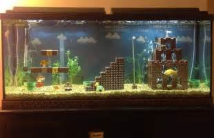Home Aquarium Decorations Not Bad Lego Super Mario Level Aquarium Decorations