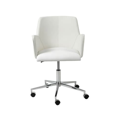 Sunny White Swivel Office Chair Office Chairs White Desk Chair