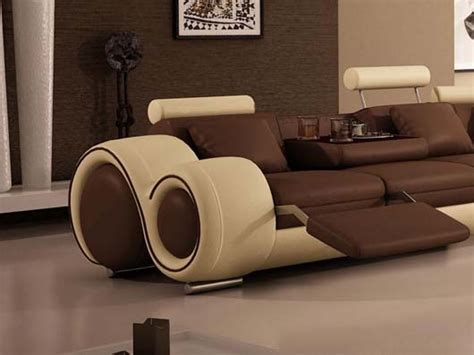 cool modern couches modern recliner sofa sectional simple modern brown