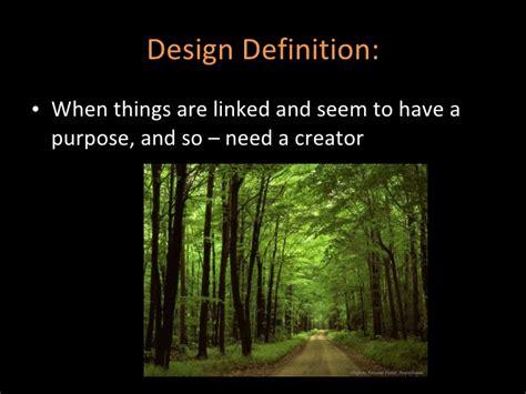 Design Premise Meaning   design argument