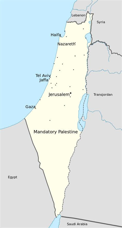 map of palestine file map of mandatory palestine in 1946 with major cities