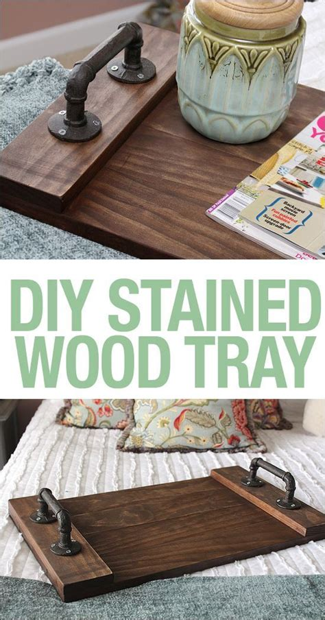 diy stained wood tray wood tray trays  tutorials