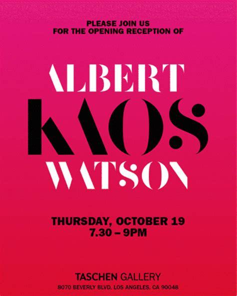 Kaos Yogs New Edition 2017 30 albert watson kaos opening reception at taschen gallery