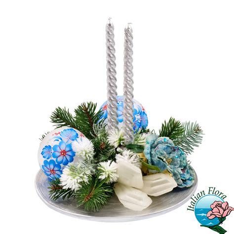 centro fiori centrotavola natalizio bianco