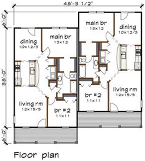 1000 Images About Duplex Multi Family Abodes On Multi Family House Plans Duplex